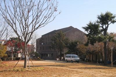 복자 구한선 타대오 순교 성지가 조성된 대산 성당 외부 모습. 성당 1층에 복자의 유해를 모신 무덤 경당이 있다.