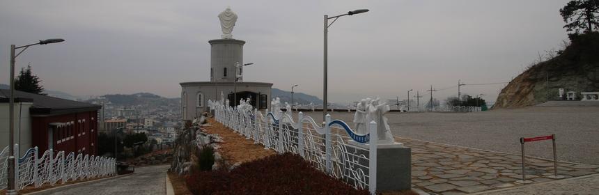 가톨릭목포 성지 전경.