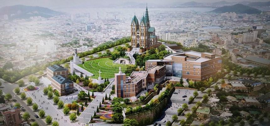 가톨릭목포 성지 조감도.