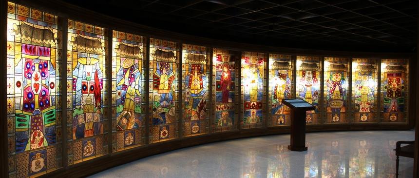 2017년 문을 연 영광순교자기념관의 핏빛 사랑으로 진복을 사신 영광의 순교자들 작품.