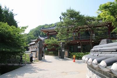 남한산성 성지 입구.