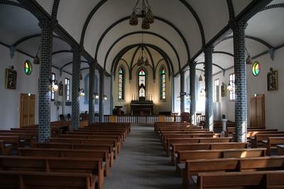 1909년 낙성식을 가진 성당 내부. 한국인 신부가 지은 첫 번째 성당이자 강원도 최초의 벽돌건물로 1982년 강원도 유형문화재 제69호로 지정되었다.