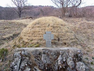 진목정 순교자 기념성당 건립 전 세 순교 복자가 묻혔던 묘소.