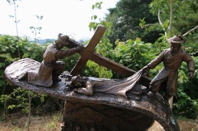 십자가의 길 제9처.